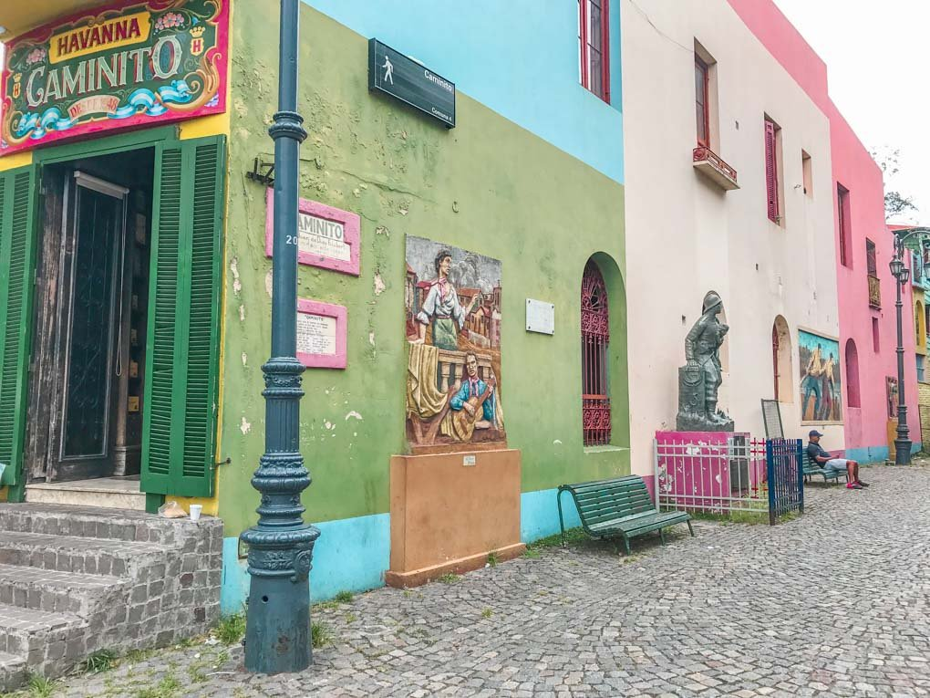 LA BOCA is the most colorful neighborhood in buenos aires