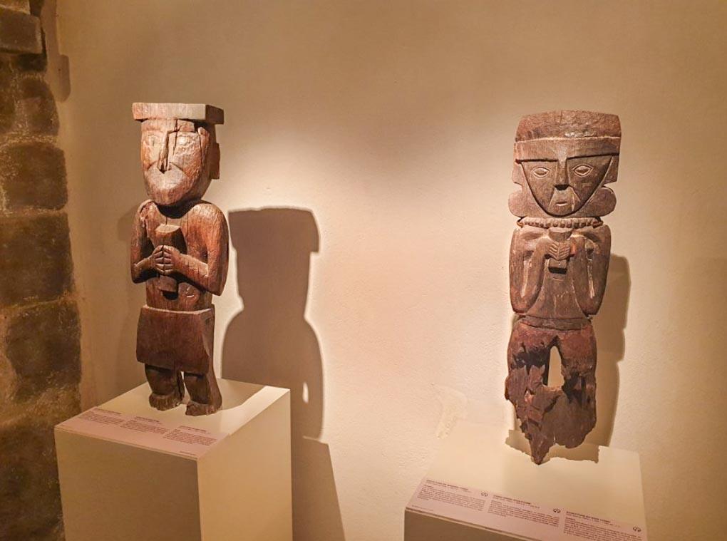 Artifacts at the Inca Museum in Cusco, Peru