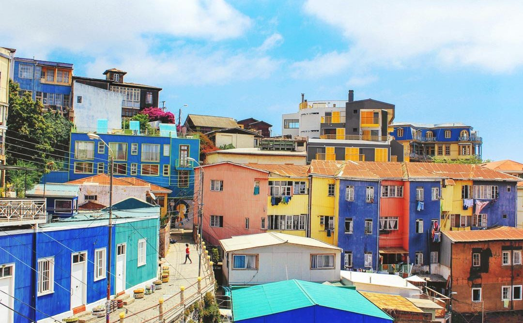 The colorful buildings of Valparaiso, Chile