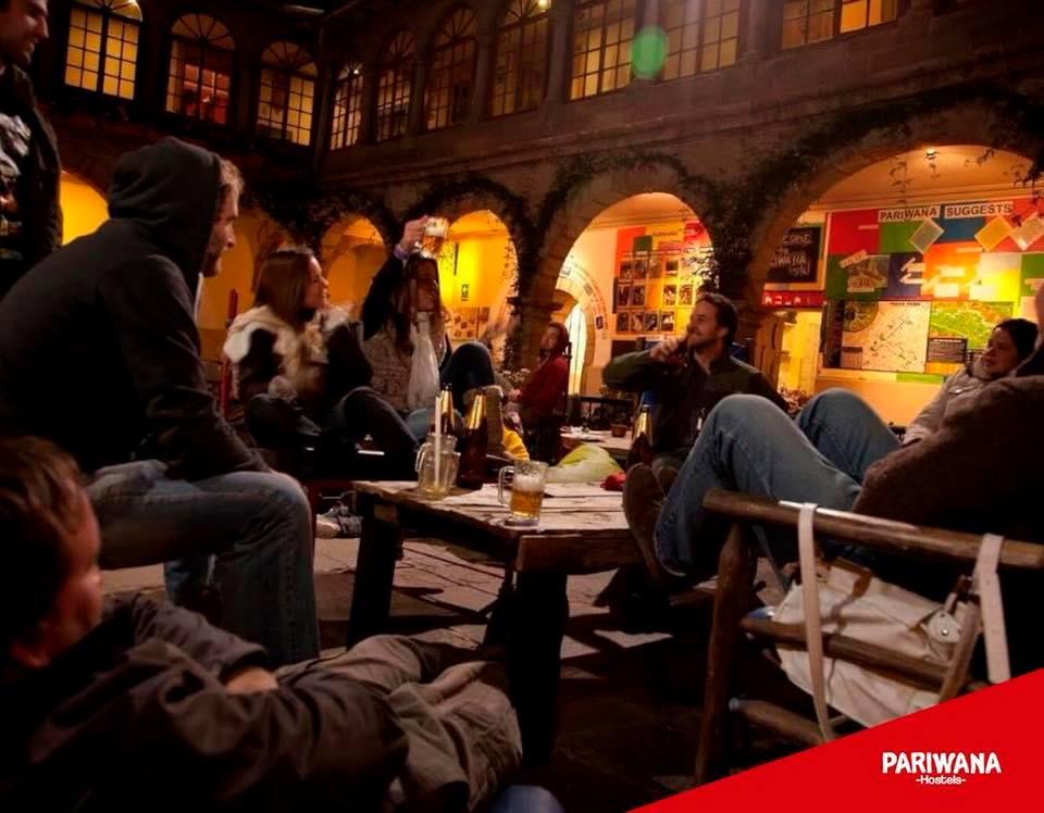pariwana hostel in cusco outdoor coutryard