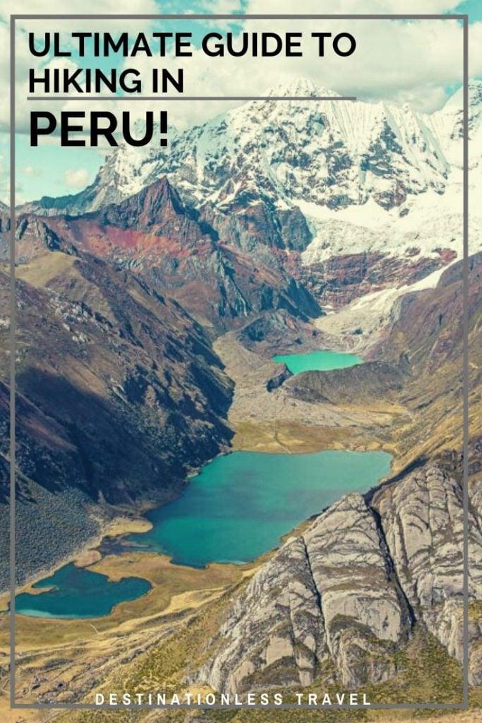 trekking in peru pinterest image