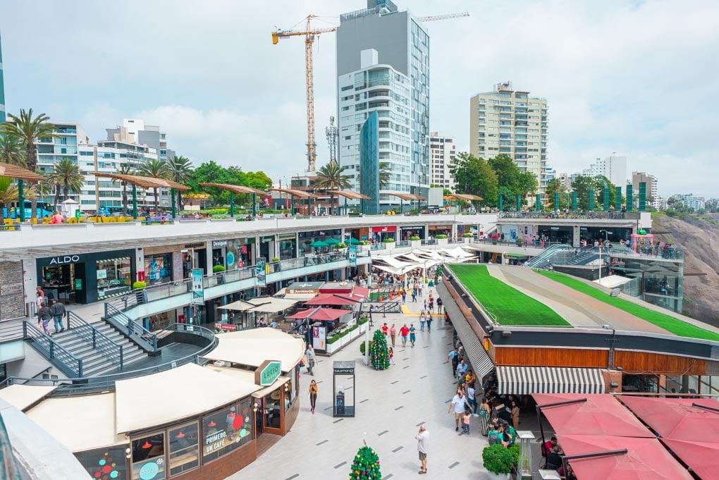 The Larcomar shopping center in Miraflores