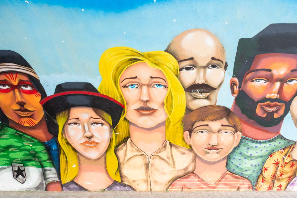 Graffiti on our tour in Barranco