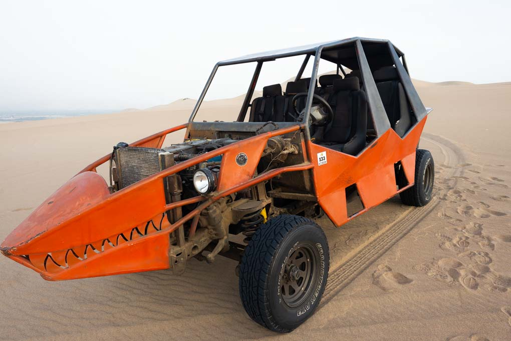 Dune buggy in Huacachina, Peru
