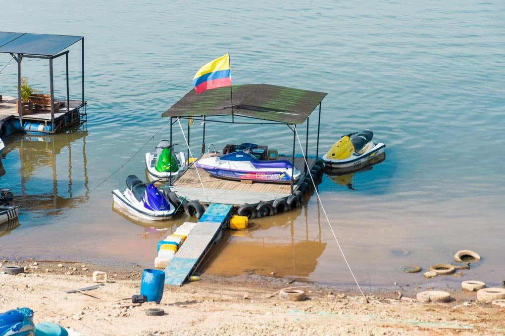 Jet skiing in Guatape