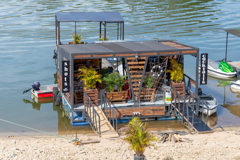 Floating bar in Guatape, Colombia