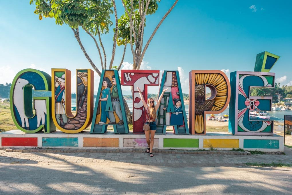 The guatape sign in Guatape, Colombia