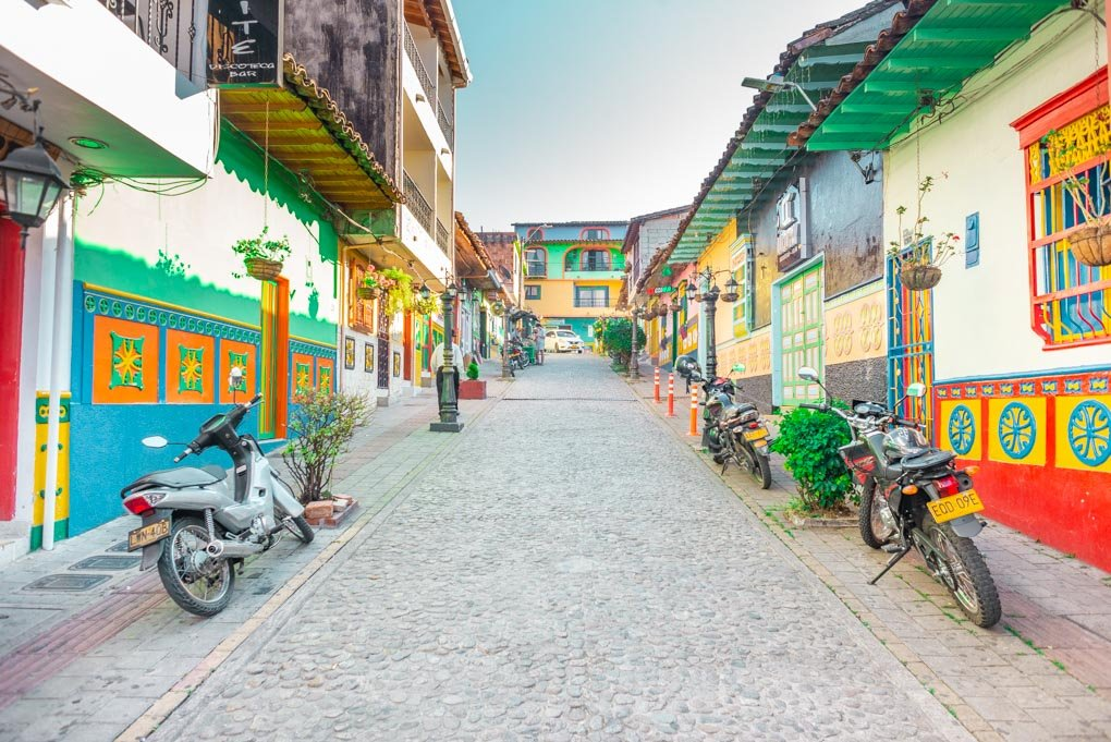 A cute street in Guatapé, Colombia