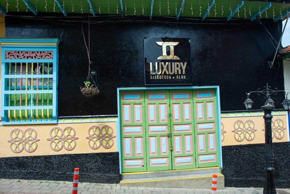 A nightclub in Guatapé, Colombia