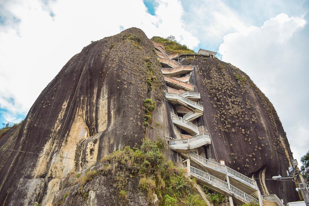 The stairs at El Penol rock, Guatapé