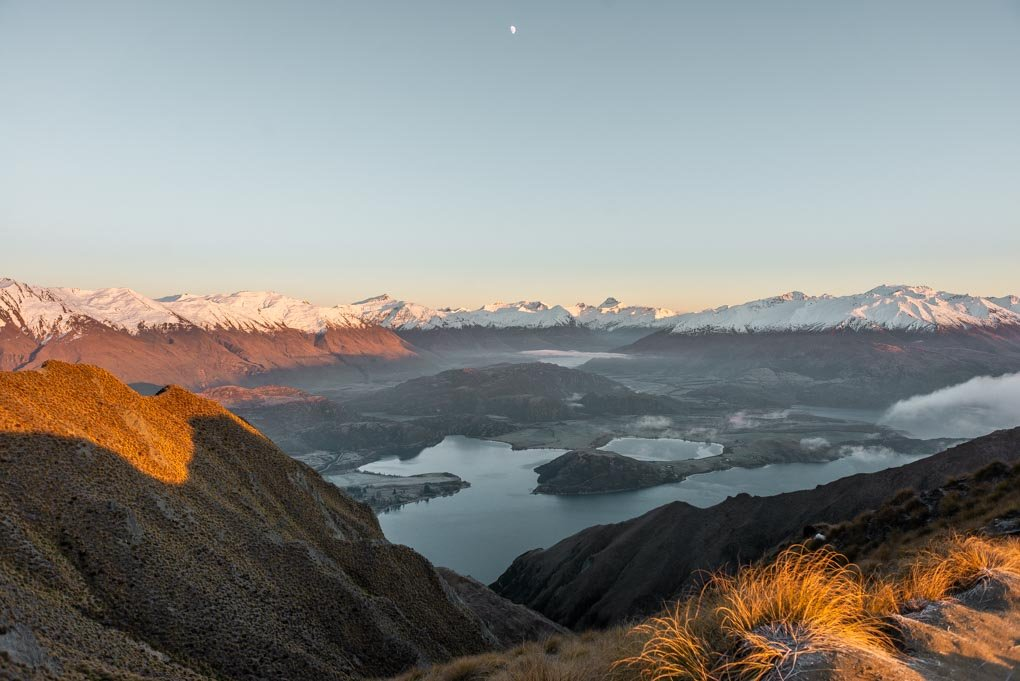 A unique view of Lake Wanaka from Roy's Peak