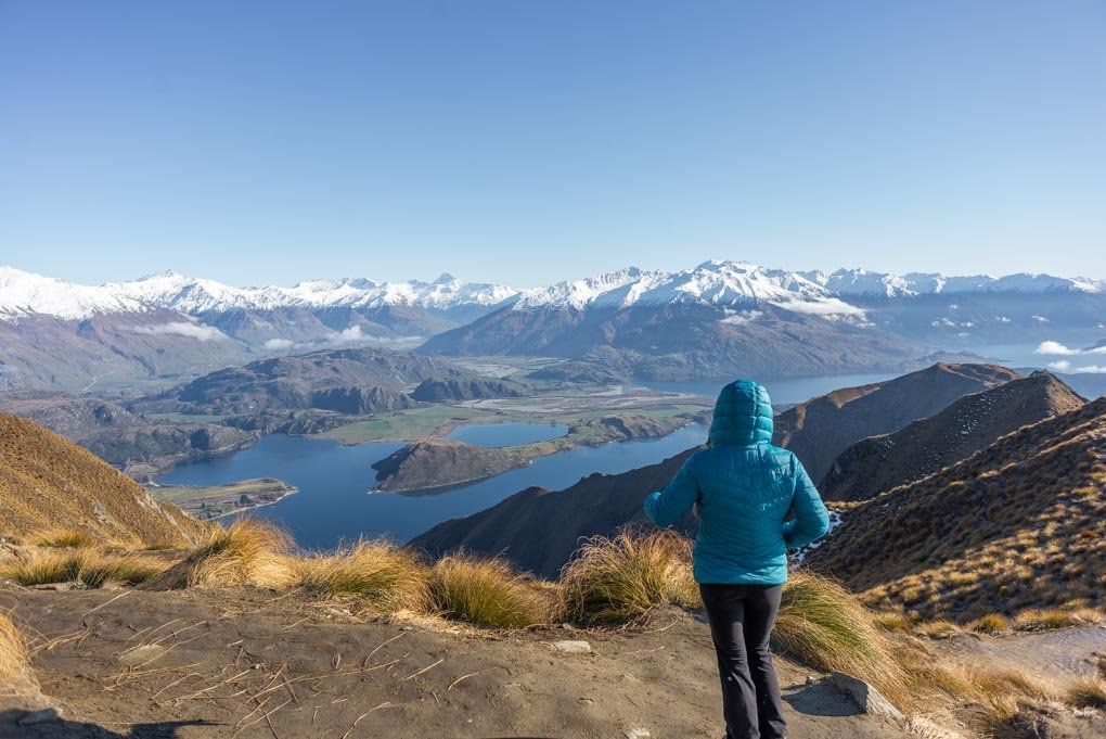 Bailey looking over Lake Wanaka on Roy's Peak