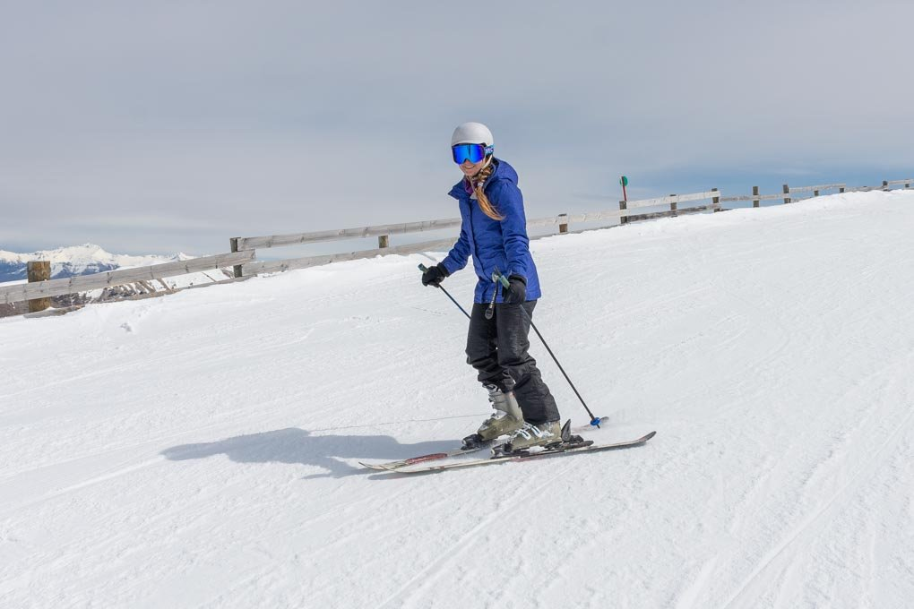 Bailey skiing at Cardron Ski resort in New Zealand