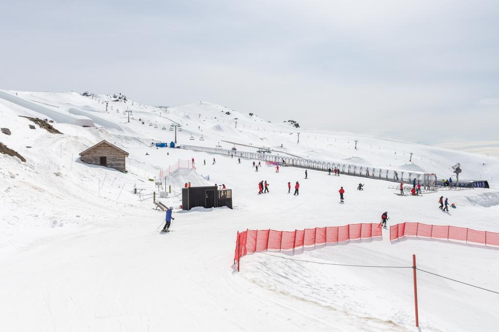 Cardrona Ski Field from the base of the mountain