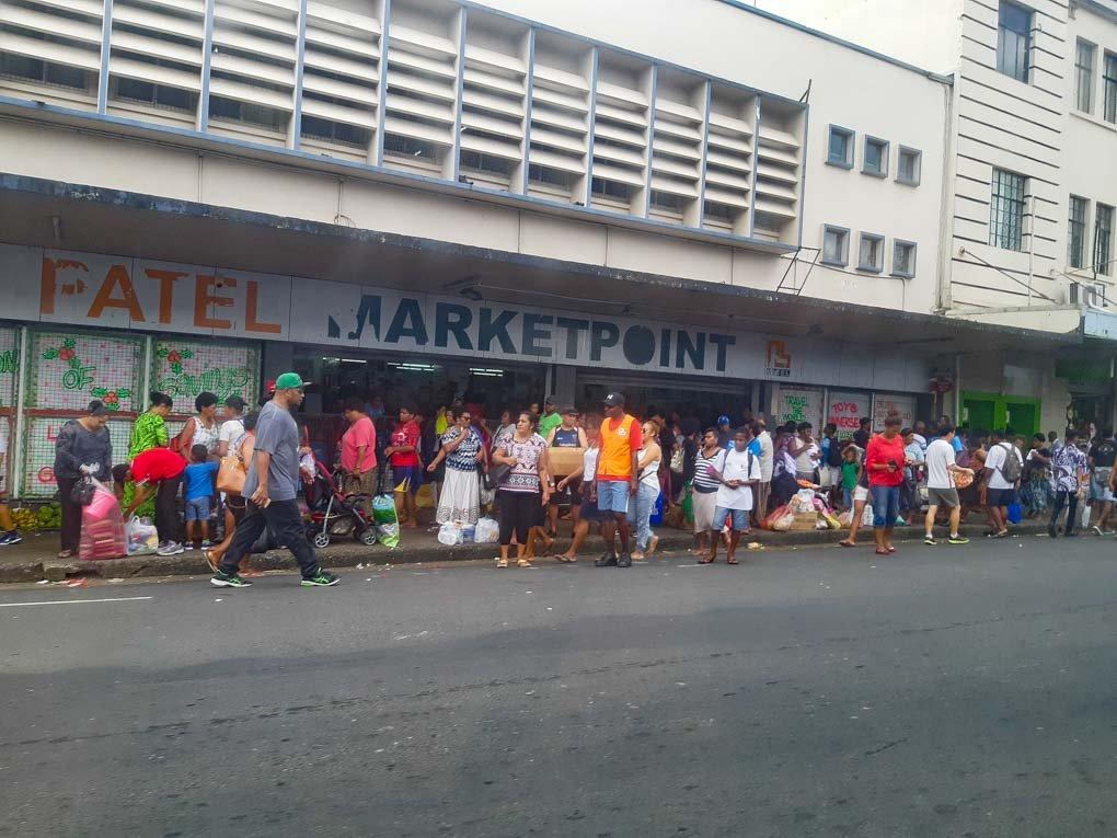 entrance to the Suva markets