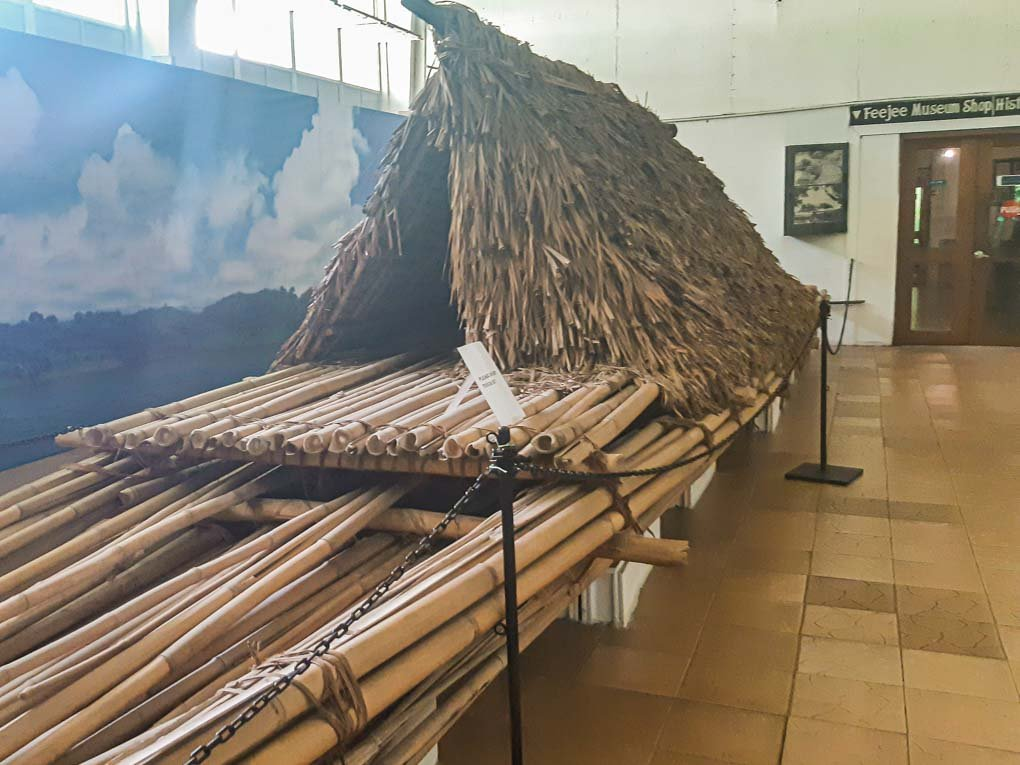 boat replica in the Fiji Museum, Suva