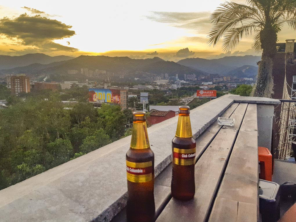 Sunset drinks at Los Patios, Medellin, Colombia