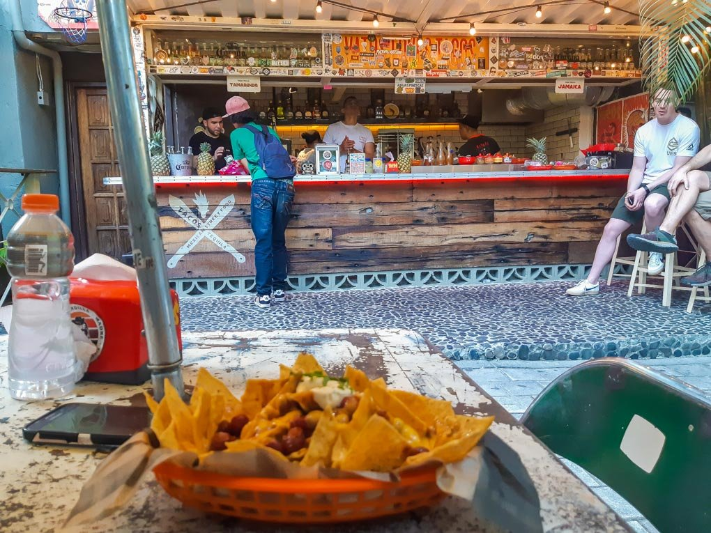 Nachos at one of Medellin's most famous Mexican eateries!