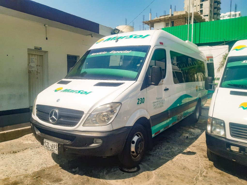 marsol shuttle bus from santa marta to cartagena