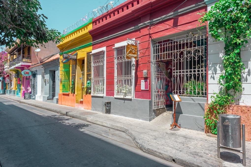 The historical center of Santa Marta