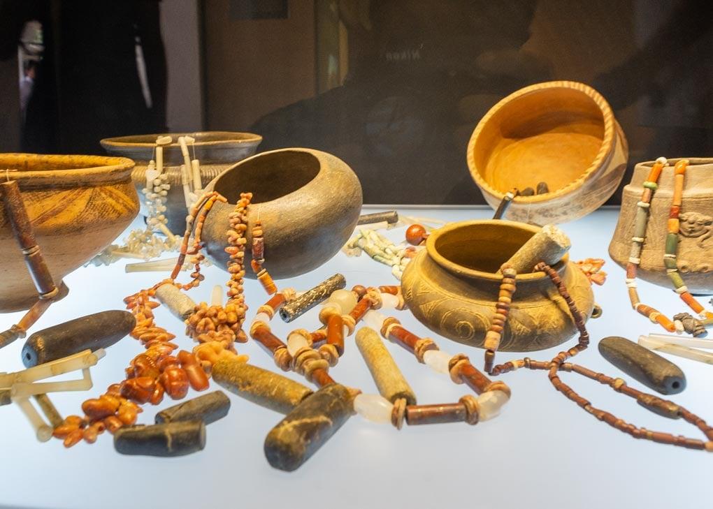 Artifacts in the Museo del Oro, Santa Marta