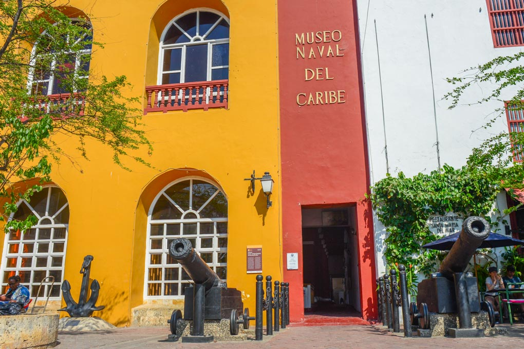 The front of the Naval Museum in Cartagena, Colombia