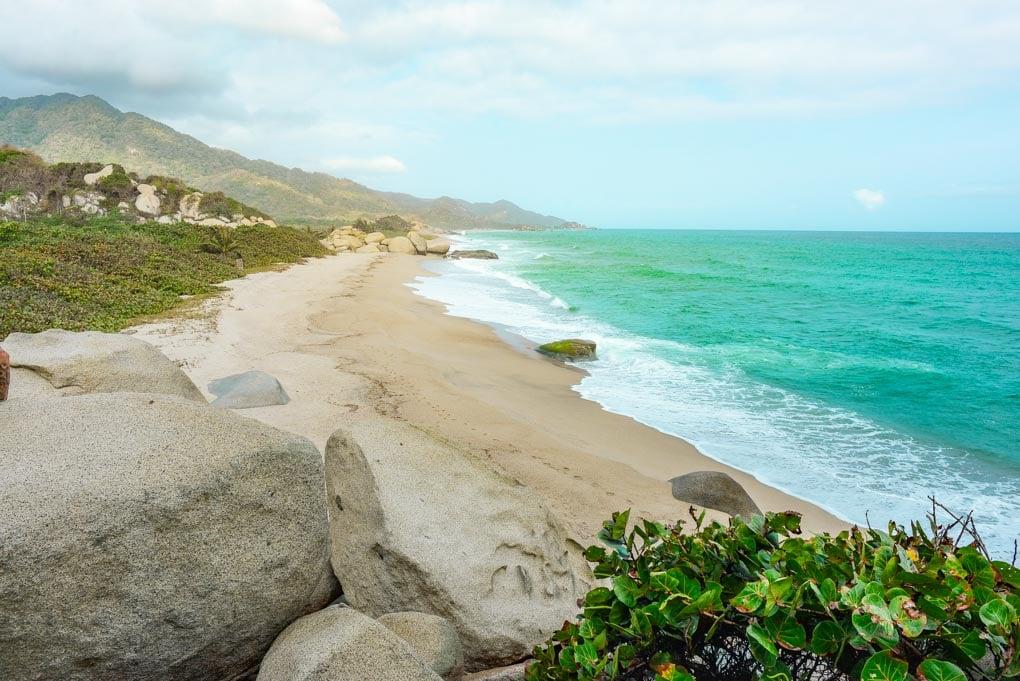 Arrecifes Beach in Tayrona National Park