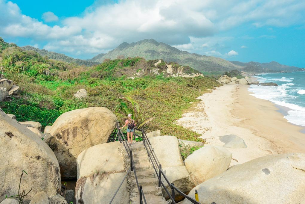 Taking in the views on the walk to Cabo San Juan Beach in Tayrona National Park, Colombia