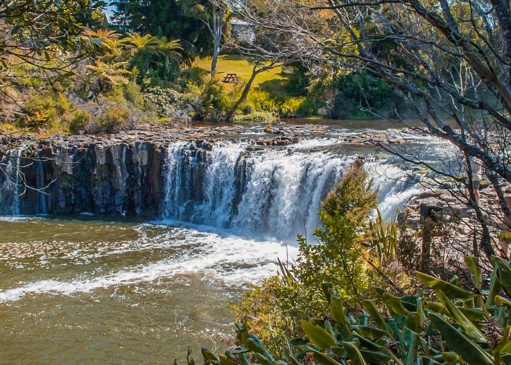 View of Haruru Falls, New Zealand