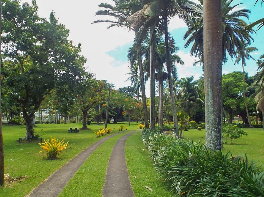 thurston botanic garden in Suva, Fiji