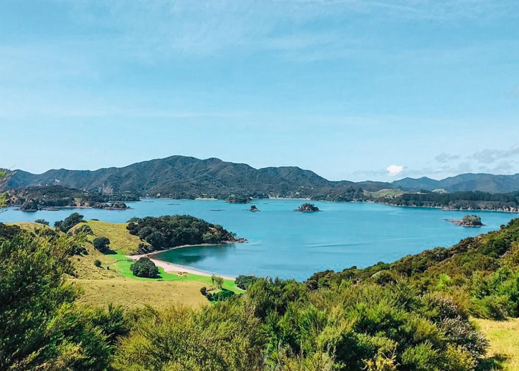 A photo from the viewpoint on Urupukapuka Island, Bay of Islands