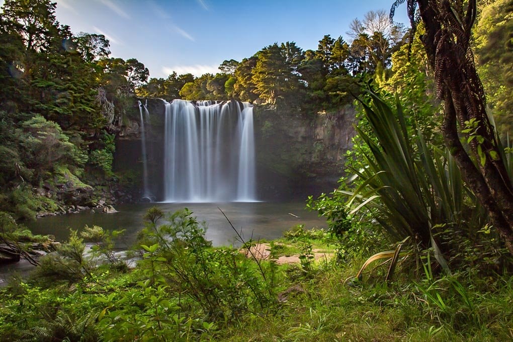 Rainbow Falls in the Bay of Islands, New Zealand
