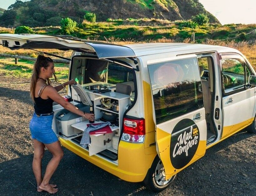campervan kitchen in new zealand