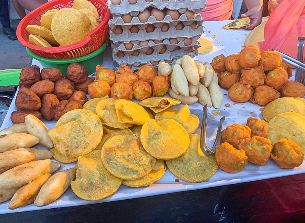 Street food in Cartagena