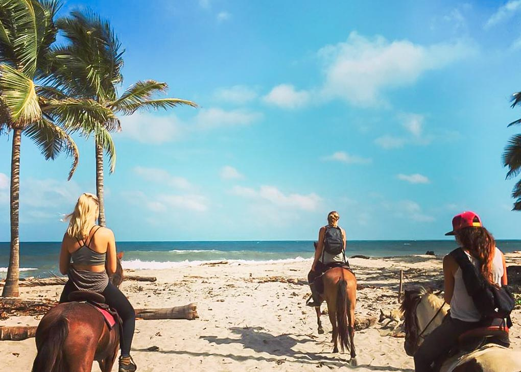 Riding a Horse on Costeño Beach, Colombia