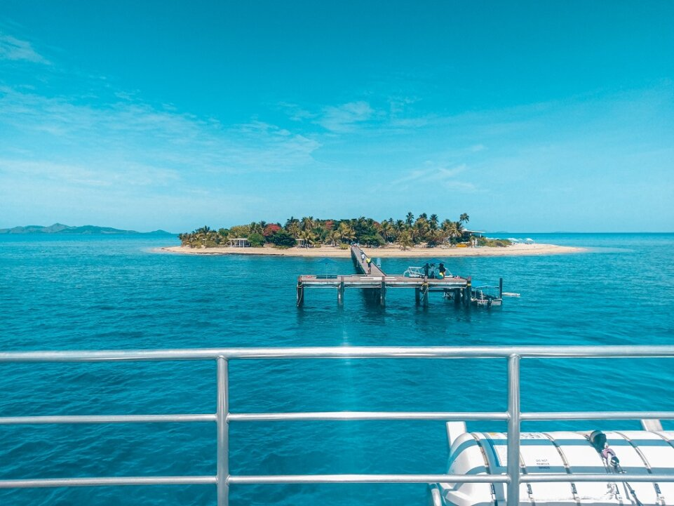 island view from a cruise day trip from Nadi Fiji