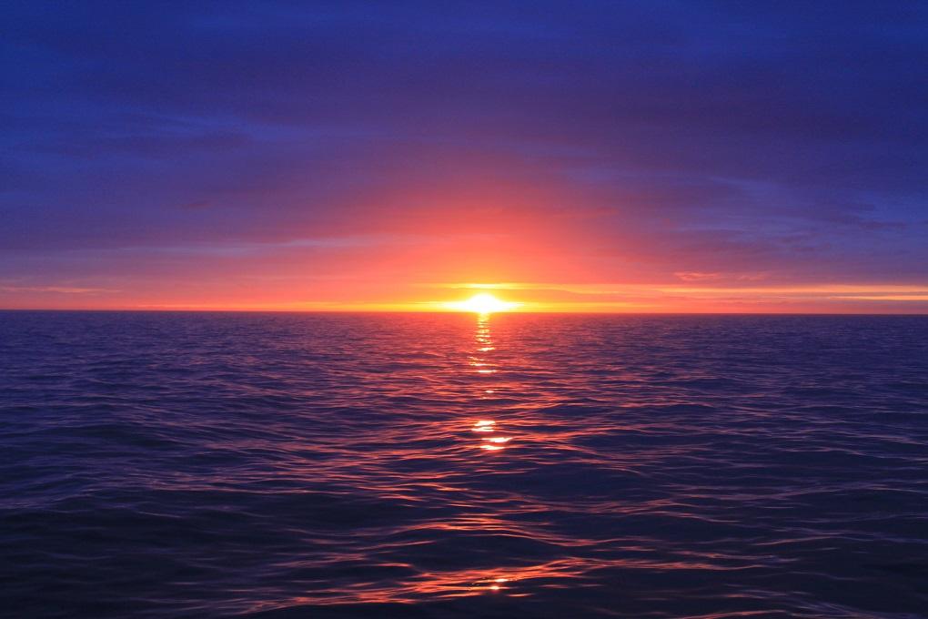 sunset on a cruise in Nadi, Fiji