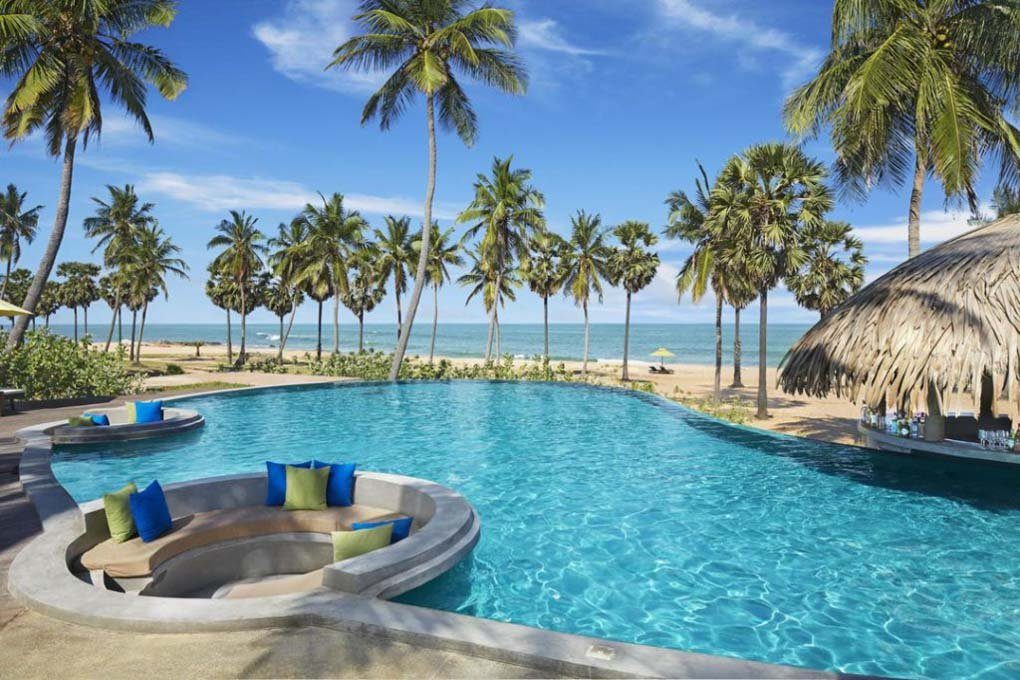 The pool at Jetwing Surf Sri Lanka