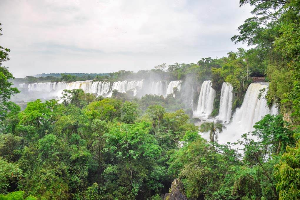 More of the waterfalls at Iguazu Falls, Brazil