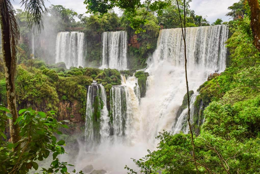 A set of waterfalls that are part of the larger Iguazu Falls in Brazil