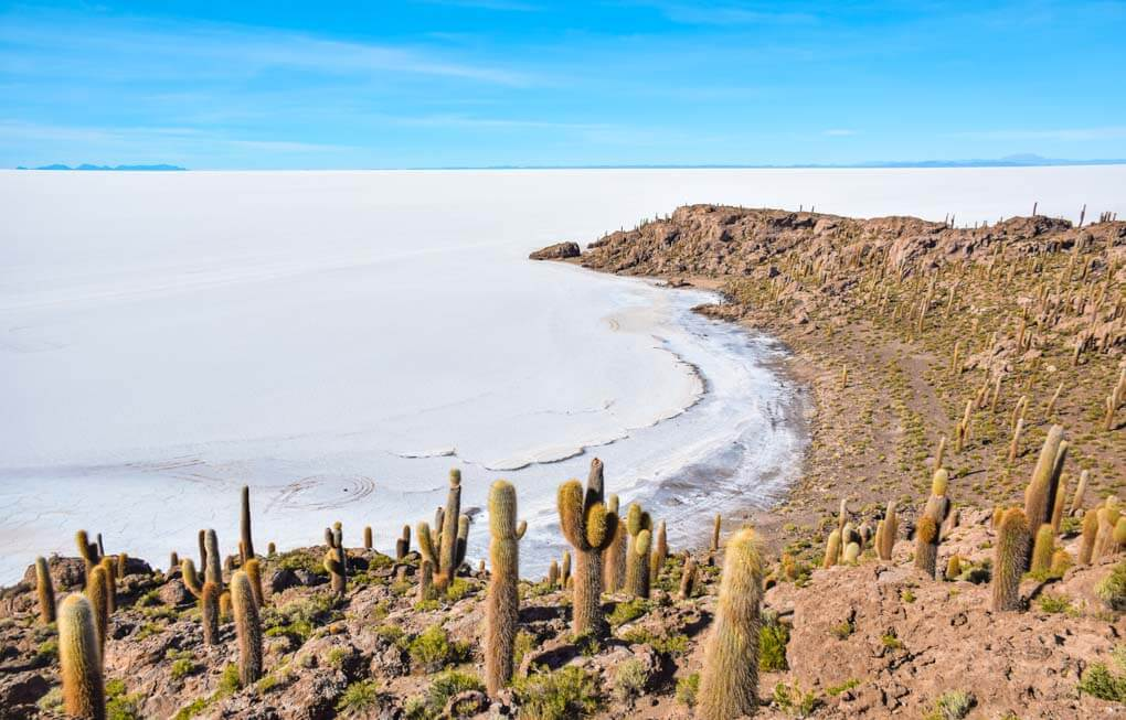 An island in the salt flats of Bolivia