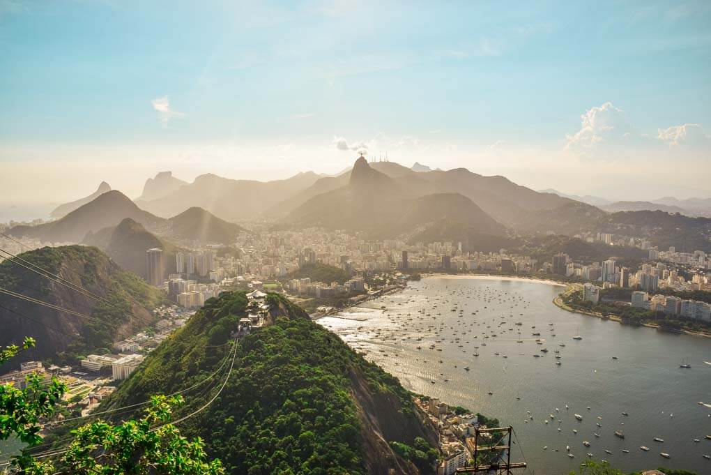 The view of Rio de Janeiro, Brazil from Sugar Loaf Mountain