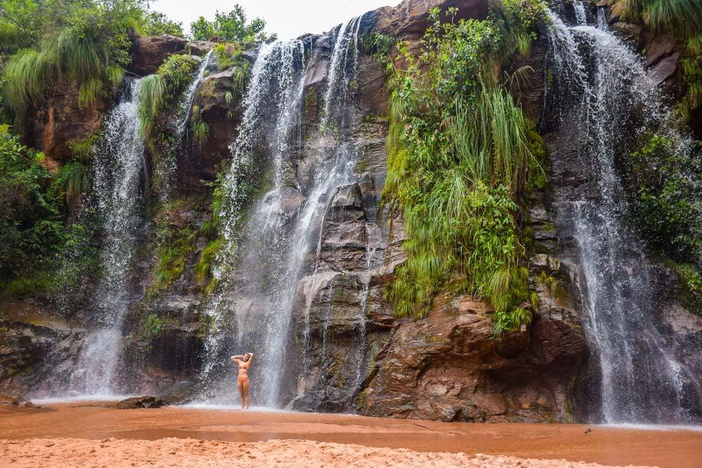 Las Cuevas Waterfall in Samaipata, Bolivia