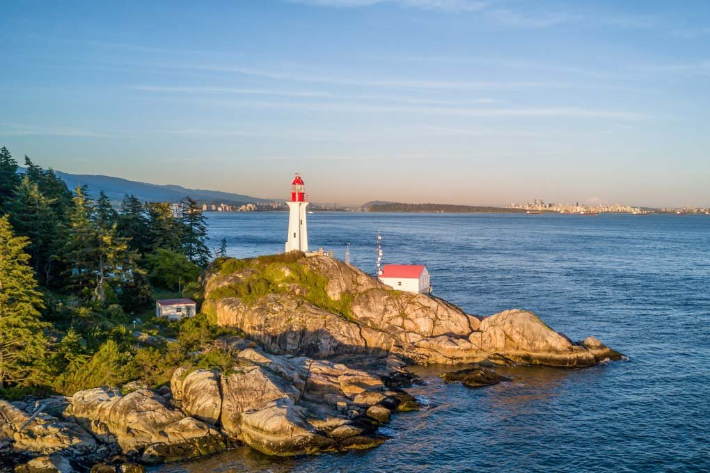 A view of Lighthouse Park in Vancouver