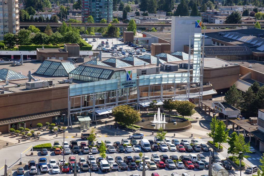 Metrotown, Vancouver aerial view