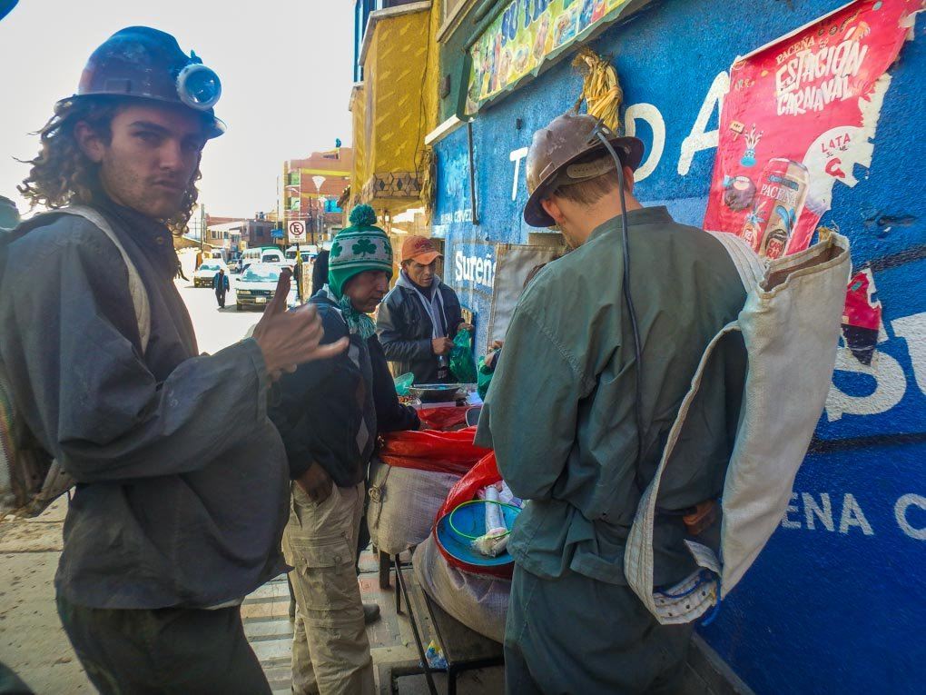 Buying dynamite in Potosi, Bolivia before our tour to the mines.