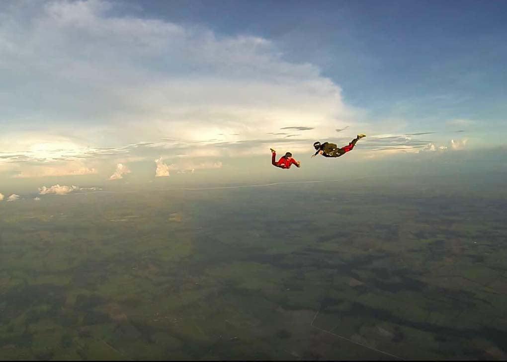 Daniel skydiving in Santa Cruz, Bolivia