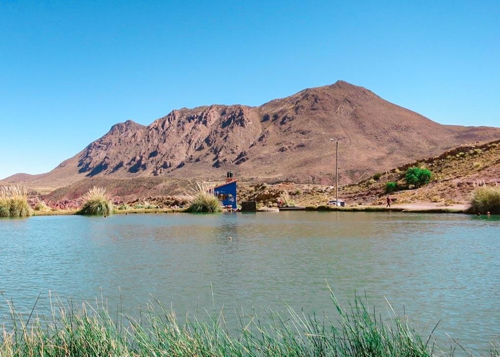 Ojo del Inca Host springs near Potosi, Bolivia