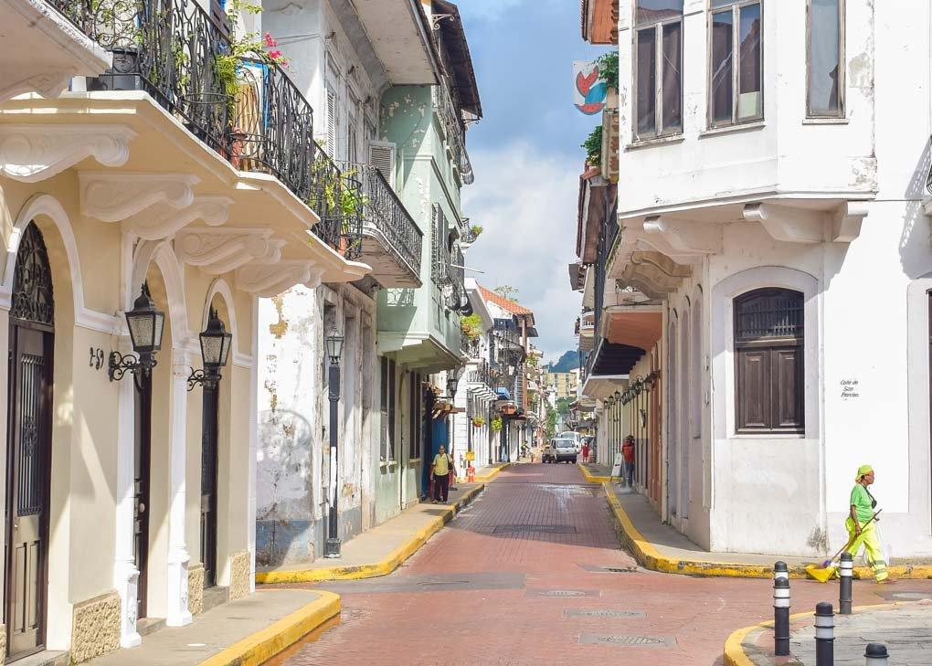 A cute street in Casco Viejo, Panama City