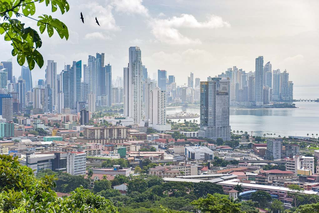 The stunning view of Panama City from Ancon Hill